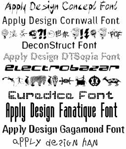 Apply Design Fonts