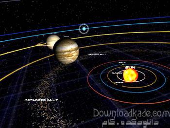 محافظ صفحه منظومه شمسی Astro Gemini 3D