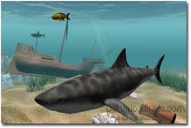 کوسه های ترسناک در دسکتاپ Shark Water World 3D Screensaver 1.5.3.3